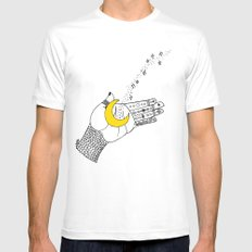let go.. Mens Fitted Tee White MEDIUM