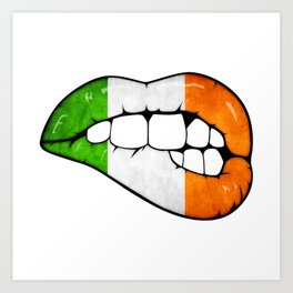Irish lips Art Print