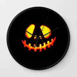 halloween trick or treat Wall Clock