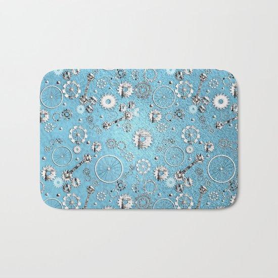 Gears and Wheels Bath Mat