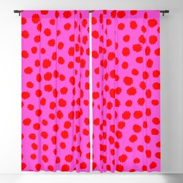 Keep me Wild Animal Print - Pink with Red Spots Blackout Curtain
