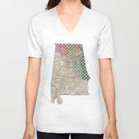 alabama V-neck T-shirts featuring Alabama by judy lee