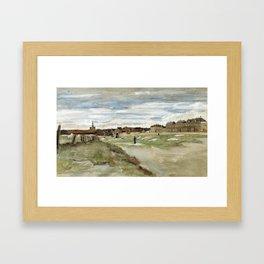 1882-Vincent van Gogh-Bleaching Ground at Scheveningen-32x54 Framed Art Print