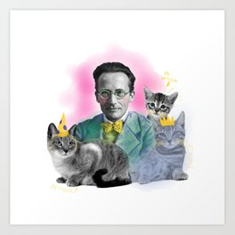 Schrödinger's Birthday Party Art Print