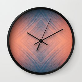 I may be going overboard with the diamond shapes lately Wall Clock