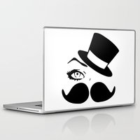 mustache Laptop & iPad Skins featuring mustache  by LCMedia