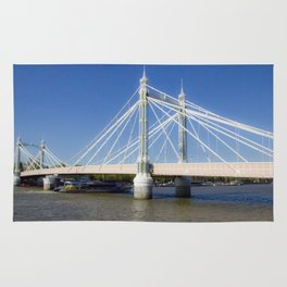 Albert Bridge on the Thames in London (3) Rug