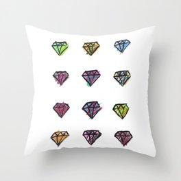 Colorful Diamonds Throw Pillow