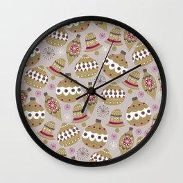 Joulupallot Wall Clock
