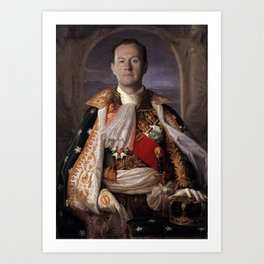 The current King of England- Mycroft Holmes Art Print