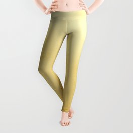 Modern elegant chic  faux gold foil gradient Leggings