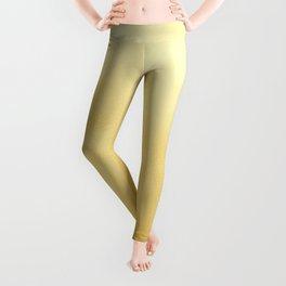 Modern elegant chic  faux gold foil gradient Leggings