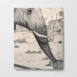 Family - Elephant Mourning Metal Print