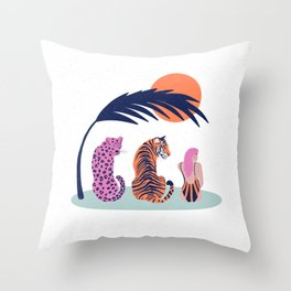 Into the wild - summer vibes Throw Pillow