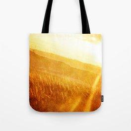 Through gold-woven dreams Tote Bag
