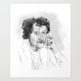 Kurt Vonnegut portrait Art Print