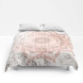 Dreamer Mandal Rose Gold Comforters