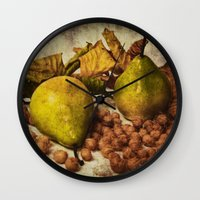 fruits Wall Clocks featuring Fruits by Angela Dölling, AD DESIGN Photo + Photo