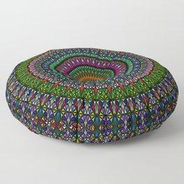 Hypnotic Church Window Mandala Floor Pillow