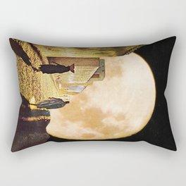 Walking at the moonlight Rectangular Pillow