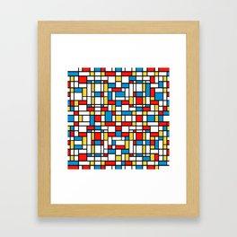 Mondrian design, abstract pattern Framed Art Print
