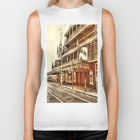 broadway Biker Tanks featuring Give My Regards To Broadway by Christine Workman