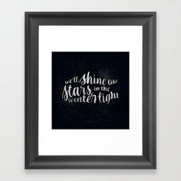Shine like Stars - Winter Framed Art Print