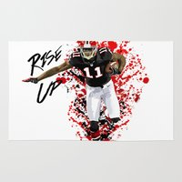 nfl Area & Throw Rugs featuring Julio Jones by MikeHanz