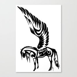 Winged Horse Tribal Canvas Print