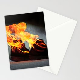 Flaming Fiery Shoe Stationery Cards