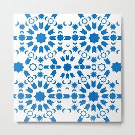Blue Arabesque Metal Print