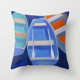 Nantucket Boats Throw Pillow