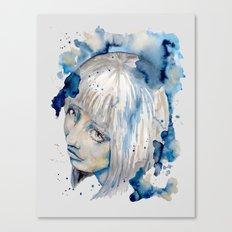 Nieves watercolor portrait by carographic Canvas Print