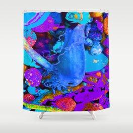 Mermaids purse purple/violet/blue Shower Curtain