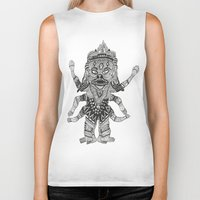 yeti Biker Tanks featuring Yeti by Guice Mann