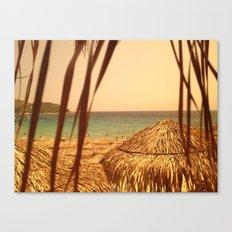 Sunny beach. Canvas Print