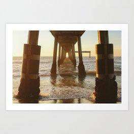Pacifica Pier. Art Print