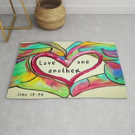 Love One Another John 13:34 Rug