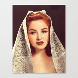 Martha Vickers, Vintage Actress Canvas Print