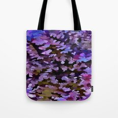 Foliage Abstract In Blue, Pink and Sienna Tote Bag