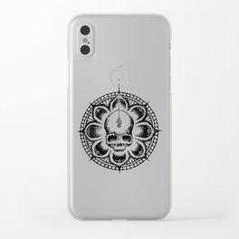 Enlightened Skull Clear iPhone Case