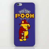 pooh iPhone & iPod Skins featuring Doctor Pooh by cû3ik designs