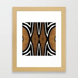 Cocoa Brown Framed Art Print