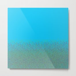 Minimalist Landscape Bluebells Metal Print