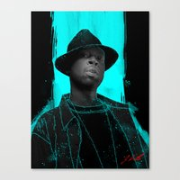 j dilla Canvas Prints featuring J Dilla poster by Escobarr