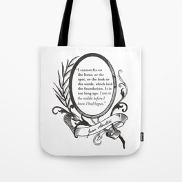 """Jane Austen """"In the Middle"""" Tote Bag"""