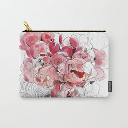 Back from the flower market - Peonies bouquet illustration Carry-All Pouch