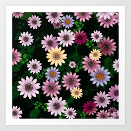Multicolored natural flowers 20 Art Print