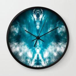 Dark Aqua Abstract Design Wall Clock