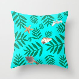 leaf coral Throw Pillow